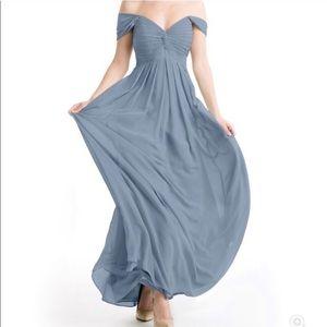 Azazie | Dusty Blue Formal Dress